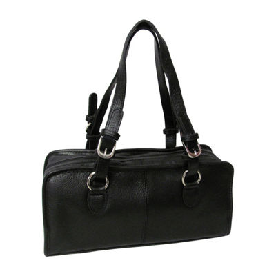 Amerileather Classy Belt Stitched Leather Satchel