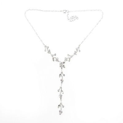 Vieste Rosa Womens Clear Brass Y Necklace