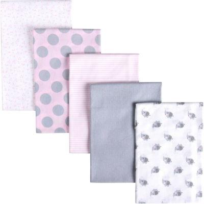 Gerber 5-pk. Baby Girl Blanket - Pink Elephant