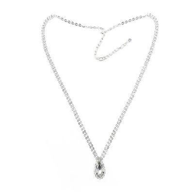 Vieste Rosa Womens Clear Brass Pendant Necklace
