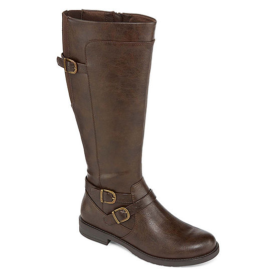 55534ee01e671 Yuu Womens Camron Zip Riding Boots - JCPenney