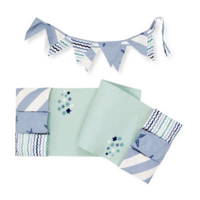 DreamIt Little Whale Changing Table Runner and Pennant Banner