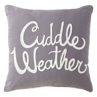 North Pole Trading Co. Cuddle Weather Square Throw Pillow