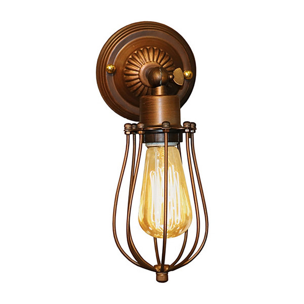 Warehouse Of Tiffany Frances 1-light Antique 5-inch Edison Wall Lamp with Bulb
