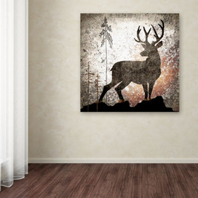 Trademark Fine Art LightBoxJournal Calling Deer Giclee Canvas Art
