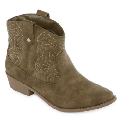 Arizona Womens Murano Cowboy Boots Block Heel Slip-on