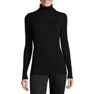 Worthington Long Sleeve Turtleneck Pullover Sweater