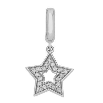 PS Personal Style White Cubic Zirconia Sterling Silver Star Charm
