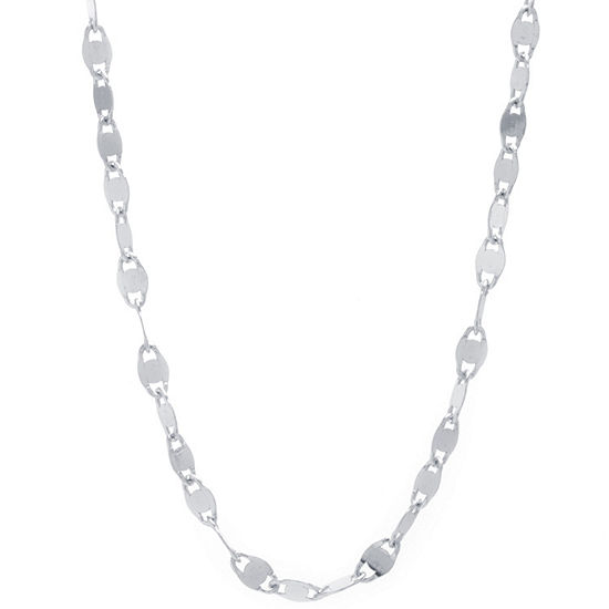 Silver Treasures Mirror Chain Choker Womens Sterling Silver Choker Necklace