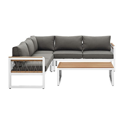 4-pc. Patio Sectional with Cord Accents