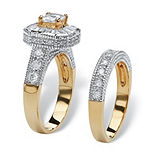 Womens 2 1/3 CT. T.W. White Cubic Zirconia 14K Gold Over Brass Bridal Set