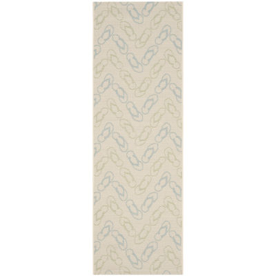 Safavieh Courtyard Collection Andreas Geometric Indoor/Outdoor Runner Rug