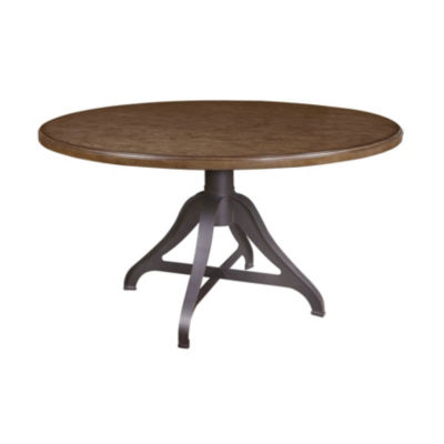 Weston Round Wood-Top Dining Table