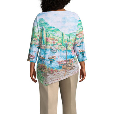 Alfred Dunner Scottsdale Scenic Tee - Plus