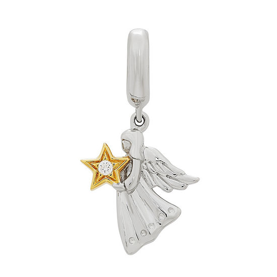 PS Personal Style White Cubic Zirconia Star Charm