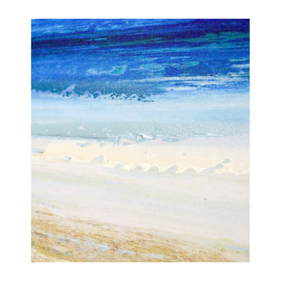 New View Beach Scene Framed Embellished Canvas Canvas Art
