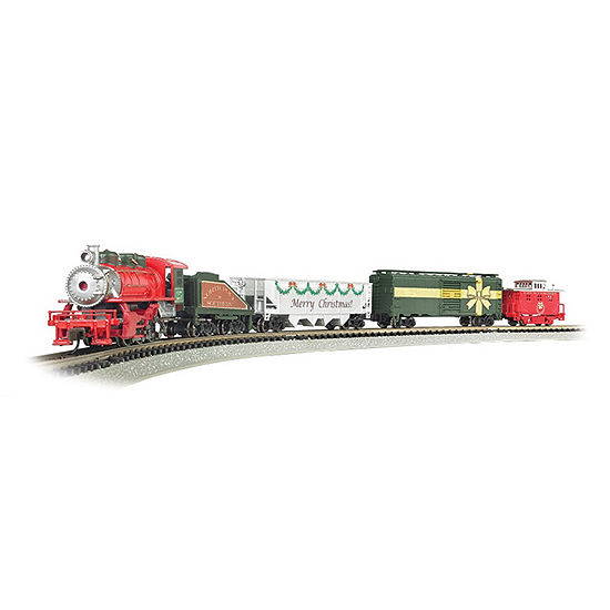 Bachmann Trains Merry Christmas Express Ready To Run Electric Train Set - N Scale