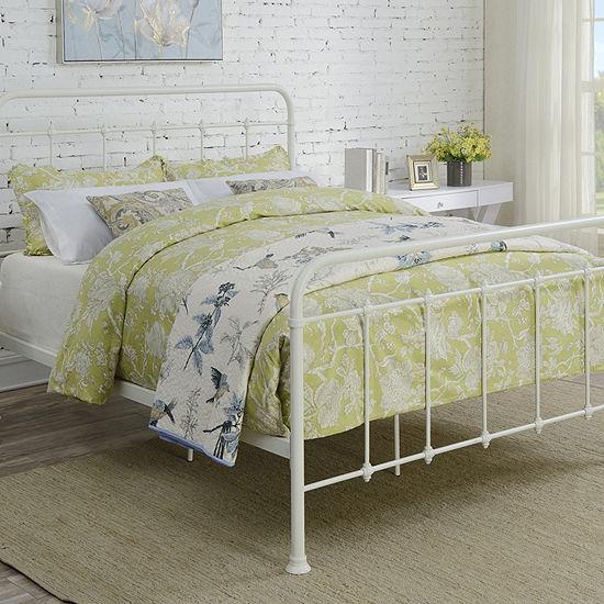 Curved Queen Metal Bed