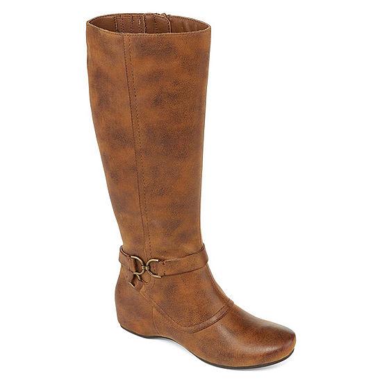 068a55fcac5 Yuu Womens Tasha Dress Wedge Heel Zip Boots - JCPenney