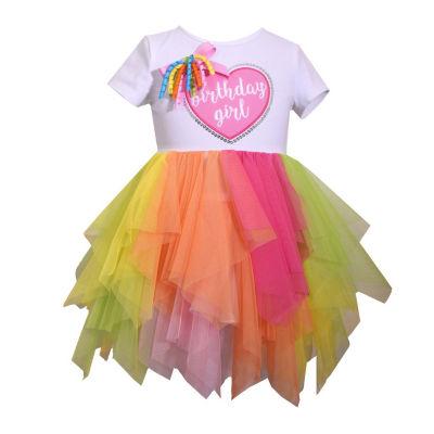 Bonnie Jean Short Sleeve Birthday Girl TUTU Dress Dress - Infant Girls