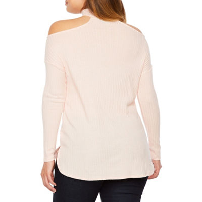 Bold Elements Long Sleeve Chocker Tunic With Ring Detail