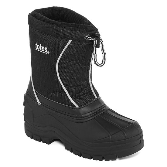 Totes Boys Jeffery-T Snow Boots Water Resistant Elastic