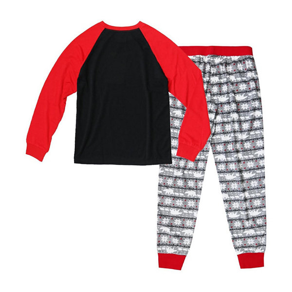 Holiday FAMJAMS Fairisle Bear 2 Piece Pajama Set -Men's