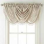 JCPenney Home Hilton Damask Waterfall Rod-Pocket Waterfall Valance