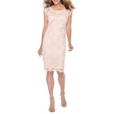 Onyx Nites Short Sleeve Fit & Flare Dress