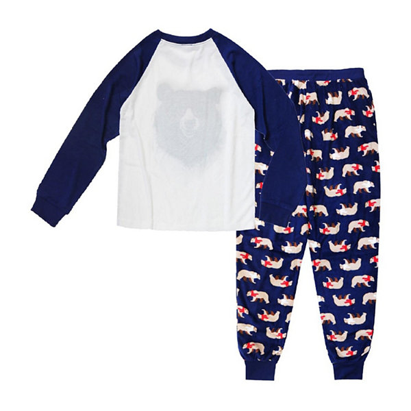Holiday FAMJAMS Bear 2 Piece Pajama Set -Men's