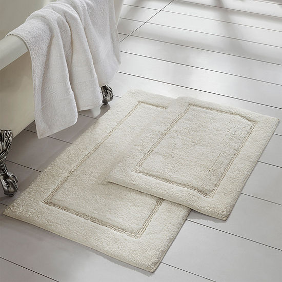 Pacific Coast Textiles Solid Cotton 2 Pc Bath Rug Set