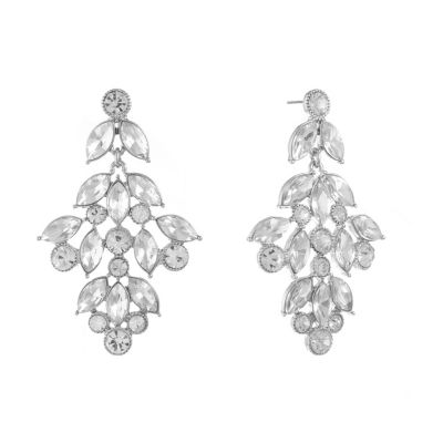 Monet Jewelry Clear Chandelier Earrings