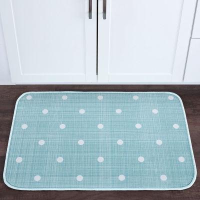 Tayse Polka Dots Transitional Geometric Anti Fatigue Comfort Kitchen Mat