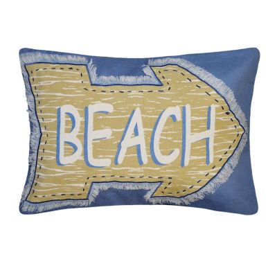 Beach Arrow Rectangular Throw Pillow