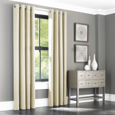 Queen Street Santiago Grommet-Top Curtain Panel