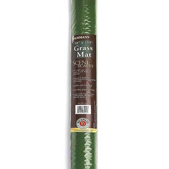 """Bachmann Trains Grass Mat - Meadow (100"""" X 50"""") -For Use With All Scales"""