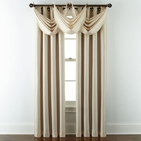 JCPenney Home Plaza Grommet- Top Lined Blackout Curtain Panel