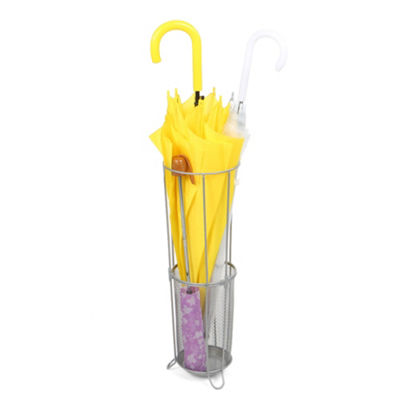Mind Reader Metal Mesh Connected Umbrella Holder, Silver