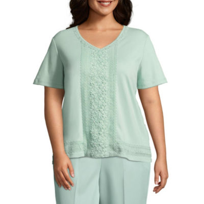Alfred Dunner Day Dreamer Center Lace Tee - Plus