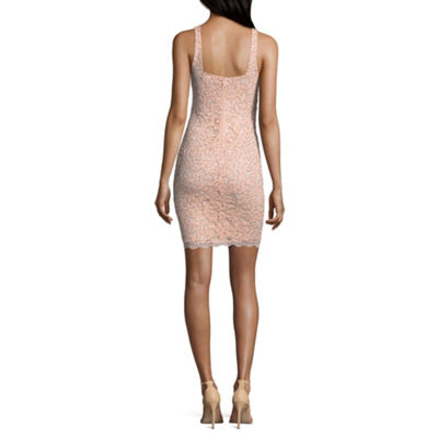 My Michelle Sleeveless Scroll Bodycon Dress-Juniors