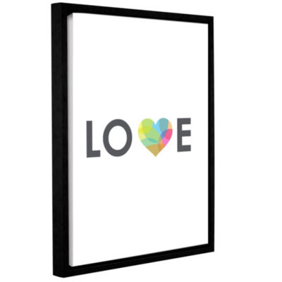 Love Floater-Framed Gallery Wrapped Canvas