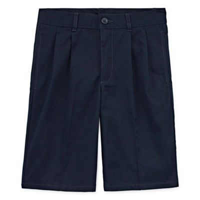 Izod Boys 4-20 Pleated Chino Shorts, Reg, Slim & Husky