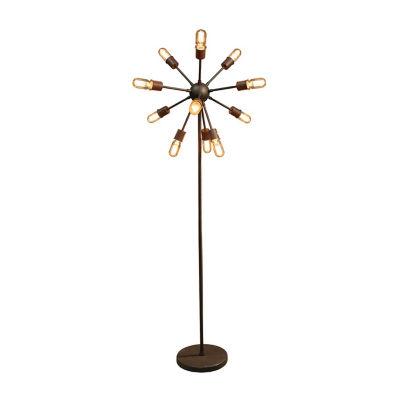 Warehouse Of Tiffany Marguirite 12-light Antique Bronze 16-inch Edison Floor Lamp with Bulbs