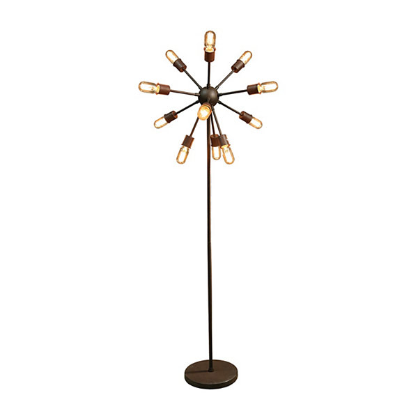 Warehouse Of Tiffany Marguirite 12 Light Antique Bronze 16 Inch Edison  Floor Lamp With