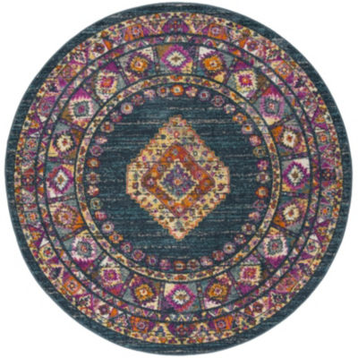 Safavieh Madison Collection Essence Oriental Round Area Rug