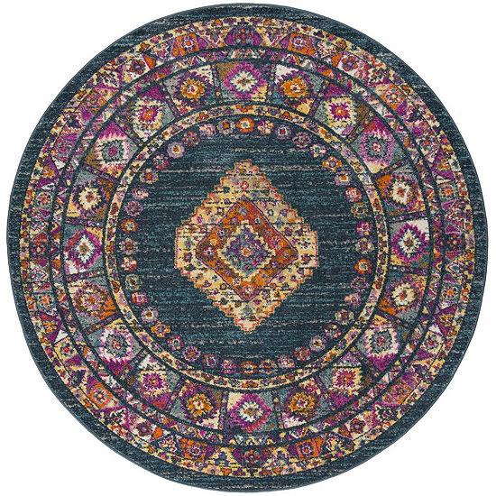 Safavieh Madison Collection Essence Oriental Round Area Rug