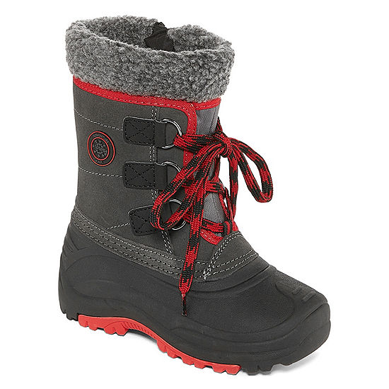 Totes Little Kid/Big Kid Boys Derick Water Resistant Snow Boots