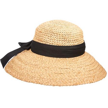 Victorian Style Hats, Bonnets, Caps, Patterns Scala Big Brim Cloche Hat One Size  White $30.00 AT vintagedancer.com
