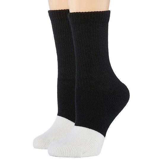 2 Pair Diabetic Crew Socks - Womens