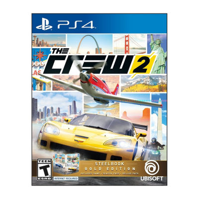 Playstation 4 The Crew 2: Steelbook Gold Edition Video Game